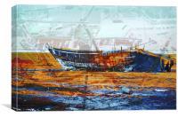 Noawahs Ark found at Dwarka, Canvas Print