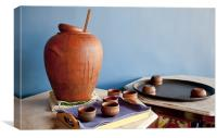 Indeginous craft earthern ware, Canvas Print