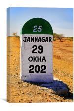 29 Kilometers to Jamnagar, Canvas Print
