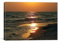 Ocean Mirror Sunset, Canvas Print