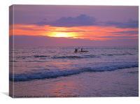 Kayaking Sunset, Canvas Print