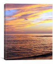 Orange Cream Sea, Canvas Print