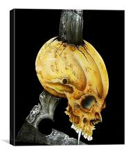 Chrome Sickle Skull, Canvas Print
