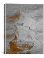 Sailing The High Seas, Canvas Print