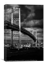 The Vincent Thomas Bridge, Canvas Print