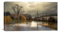 English Bridge Shrewsbury, Canvas Print