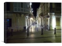 Ciutadella Night Shopping, Menorca, Canvas Print