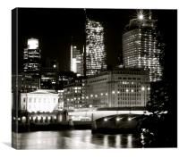 London Bridge at Night, Canvas Print