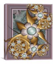 Fractal 72 The Betty Bouquet., Canvas Print