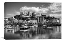 Torquay Harbor, Mono, Canvas Print