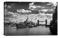 Olympic Rings, Tower Bridge, Canvas Print