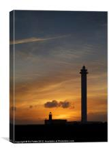 Lighthouse Silhouette, Canvas Print