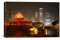 Buckingham Fountain, Chicago, Canvas Print