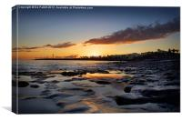 Lanzarote Lighthouse Sunset, Canvas Print