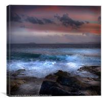 Colourful Coastline, Canvas Print