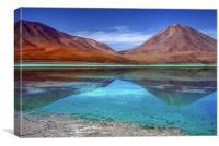 Laguna Verde, Canvas Print