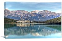 Lake Louise Chateau, Canvas Print