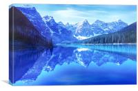 Lake Moraine, Canvas Print