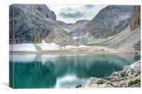 Lake Antermoia, Canvas Print