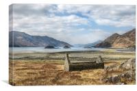 Ruin at Loch Hourn, Canvas Print
