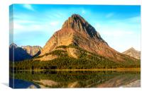 Mount Grinnell and Swiftcurrent Lake, Canvas Print