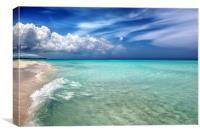 Verado Beach Cuba, Canvas Print