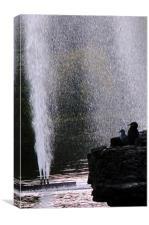 Shower in St James Park, Canvas Print