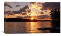 Montana Sunset over Blaine Lake, Canvas Print