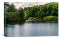 Derwent Reservoir in Motion, Canvas Print