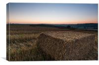 Hay Bale Sunrise, Canvas Print