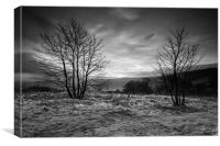 Hope Valley Black and White, Canvas Print