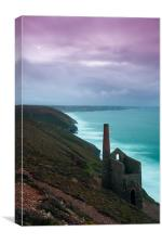 Wheal Coates Mine Sunset, Canvas Print