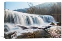 Monsal Dale Weir, Canvas Print
