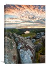 Sunset Over Ladybower Reservoir, Canvas Print