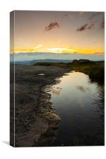 Puddle on Curbar Edge, Canvas Print