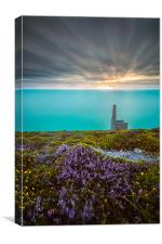 Wheal Coates Mine Long Exposure, Canvas Print