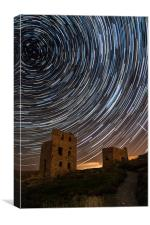 Perseids Over Wheal Coates, Canvas Print