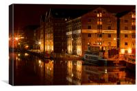 Gloucester Docks at Night, Canvas Print