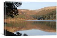 Ladybower Reservoir, Derwent Valley, Derbyshire, Canvas Print