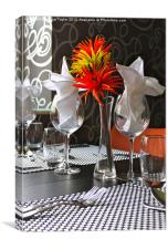 Dining Out in Style, Canvas Print