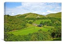 A Derbyshire Landscape, Canvas Print