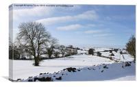 Derbyshire Winter Landscape, Canvas Print