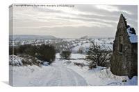 Snow Tracks Derbyshire, Canvas Print