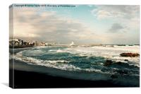 Stormy Weather, Puerto Duquesa, Andalucia, Spain, Canvas Print