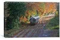 Vintage train in Derbyshire, Canvas Print