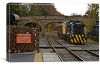 Old Diesel Train in Derbyshire, Canvas Print
