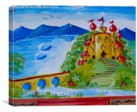 Canal Bargeware Art, Canvas Print