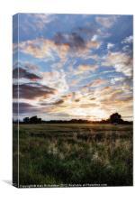 A Summer Sunset, Canvas Print