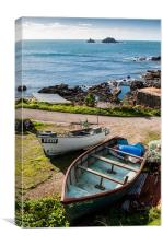 Boats at Cape Cornwall, Canvas Print