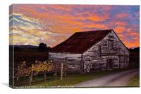 Sunset Barn, Canvas Print